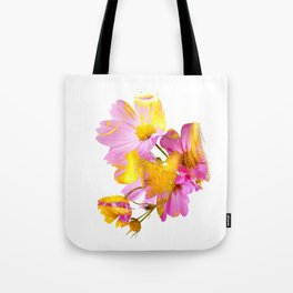 New Mixed Era -  Purple Faced Flower Tote Bag