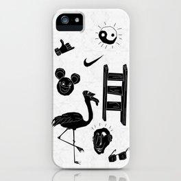 ☯  ~ • ✈ ♈ ☼ ♫ ☥ • ~  ☯ iPhone Case