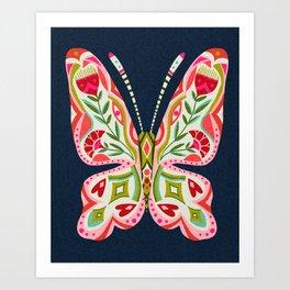 Butterfly no. 2 floral butterfly art Art Print