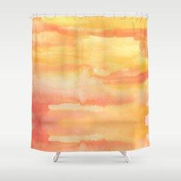 Apricot Sunset Shower Curtain