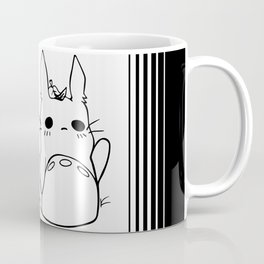 Chibi Totoros in Black and White Coffee Mug