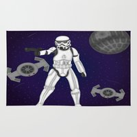 storm trooper Area & Throw Rugs featuring storm trooper by Agentsassy