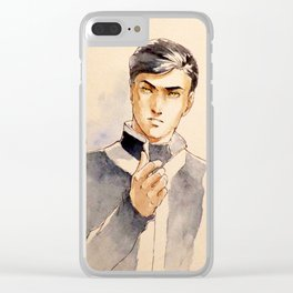 Enrico from 'The 100 Worlds. 59' Clear iPhone Case
