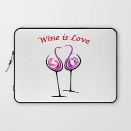 Wine is Love - Style 7 Laptop Sleeve