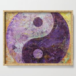 Purple Yin Yang Serving Tray