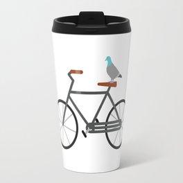 Pigeon Riding Bike Travel Mug