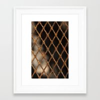 cage Framed Art Prints featuring Cage by Bruce Stanfield