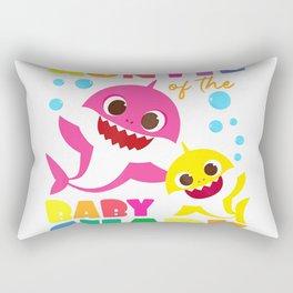 Auntie Of The Baby Shark Birthday Auntie Shark T-Shirt Rectangular Pillow