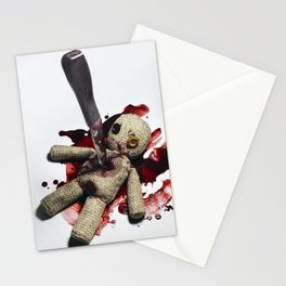 Sack Voodoo doll and bloody knife Stationery Cards