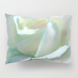 Painterly Iridescent Rose Pillow Sham