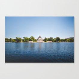 Capitol Reflection Canvas Print