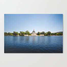 Capitol Reflection Canvas Print