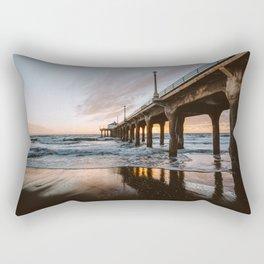 MANHATTAN BEACH PIER II Rectangular Pillow