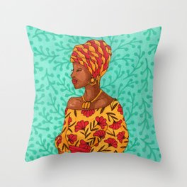 Luisa. Beautiful woman collection Throw Pillow