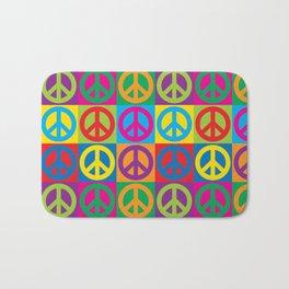 Pop Art Peace Symbols Bath Mat