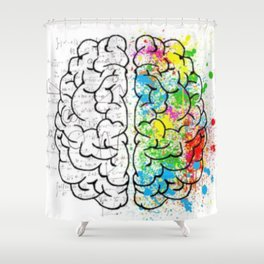 Logic vs Creativity Shower Curtain