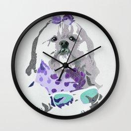 Beausy Bear Purple Wall Clock