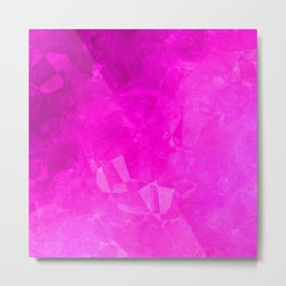 Pink polygonal shpes Metal Print