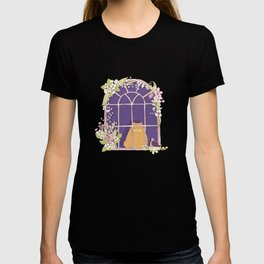 Kitty Cat In A Springtime Window With A Fancy Friend T-shirt