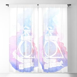 Hallows watercolors Blackout Curtain