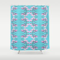 orchid Shower Curtains featuring Orchid by Nahal