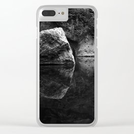 Boulder Reflection on Water Clear iPhone Case
