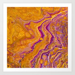Bright Golden Honey Days with Slivers of Fushia Rivers by annmariescreations Art Print