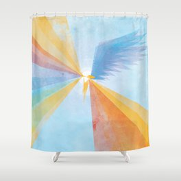Hark the Herald Shower Curtain
