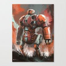Orange Bot Canvas Print