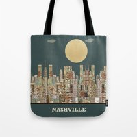 tennessee Tote Bags featuring music city tennessee  by bri.buckley