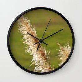 Pampas Grass Wall Clock