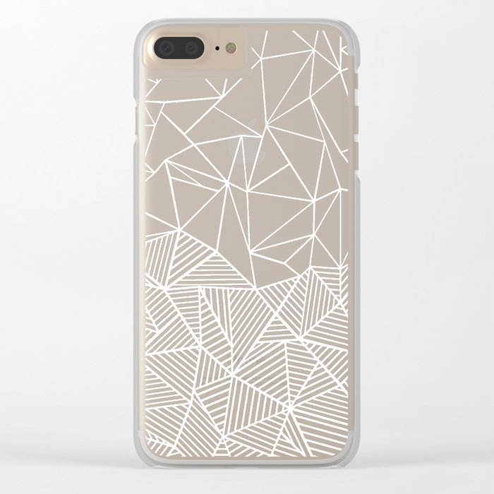 Ab Half and Half Black Clear iPhone Case
