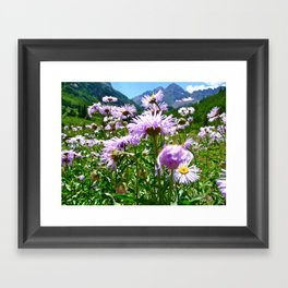 Maroon Bells, CO Framed Art Print