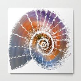 The Nautilus shell  Transparent Metal Print