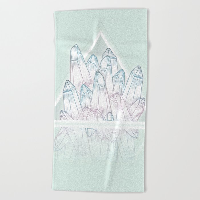 Crystals Beach Towel