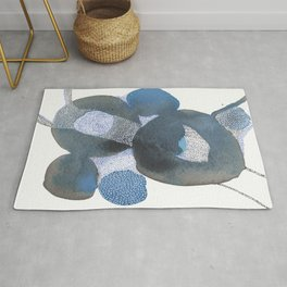 Up and Away Watercolor Point Abstract Rug