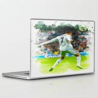 ronaldo Laptop & iPad Skins featuring Cristiano Ronaldo celebrates after scoring by Don Kuing