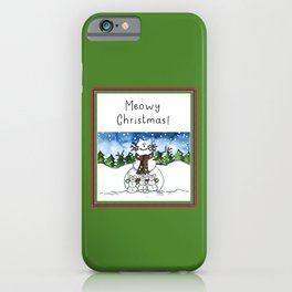 Meowy Christmas! iPhone Case
