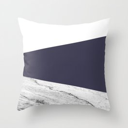 Marble Eclipse blue Geometry Throw Pillow