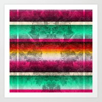 mexico Art Prints featuring Mexico by Joanna Tadger