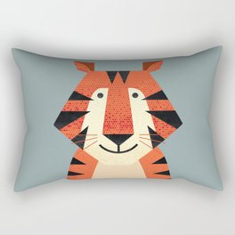 Whimsy Tiger Rectangular Pillow