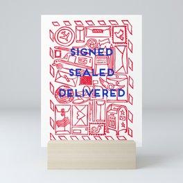 Signed Sealed Delivered Mini Art Print