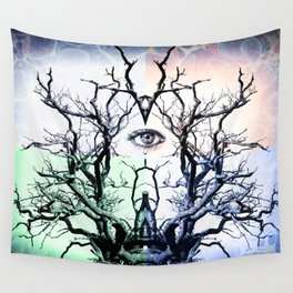 Tree Vision of Symmetry Wall Tapestry