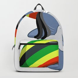 Funny Reggae Shark Design Gift Rastafari Backpack