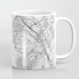 Stuttgart Map Line Coffee Mug