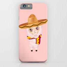 Cute Alpaca in Sombrero iPhone Case