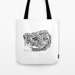 Going Places abstract creature doodle Tote Bag