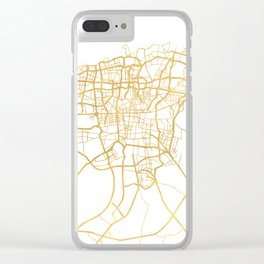 TEHRAN IRAN CITY STREET MAP ART Clear iPhone Case