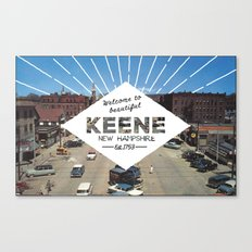 Welcome to Keene Canvas Print