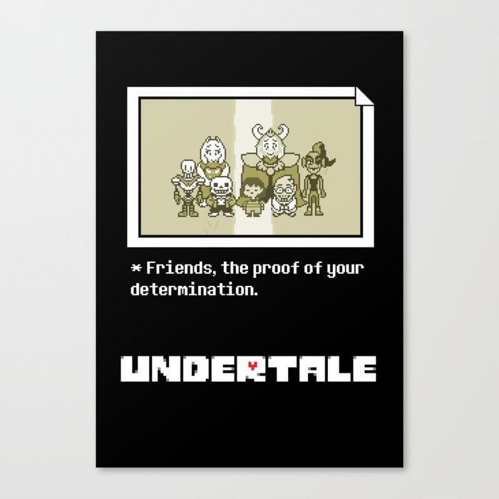 Undertale characters Canvas Print
